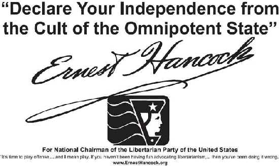 Earnest Hancock for LP Chairman
