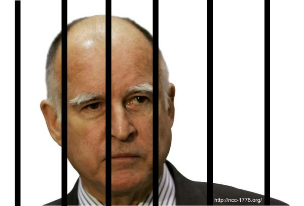 Jerry Brown Behind Bars