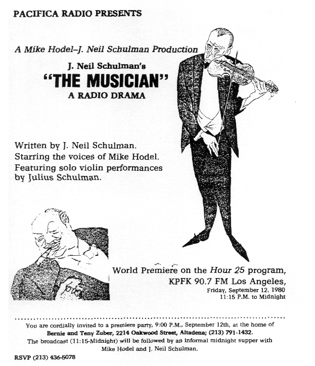 The Musician premiere flyer