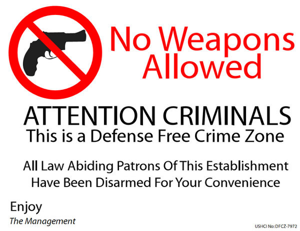 Defense Free Crime Zone